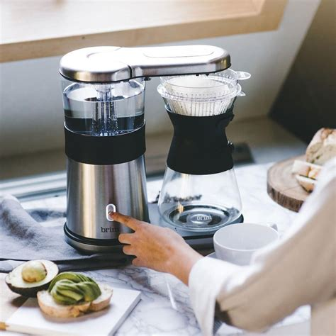 My husband and i love this coffee maker. Brim 8-Cup Pour Over Coffee Maker   Williams Sonoma CA