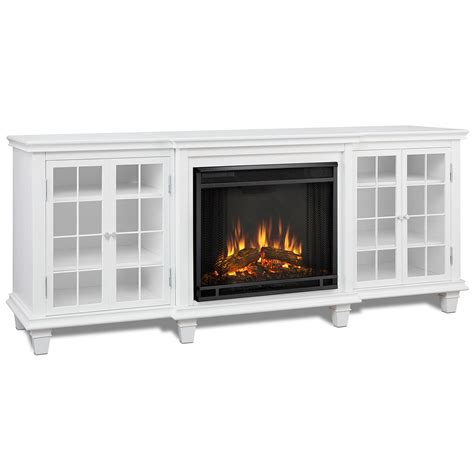 real flame   marlowe  tv stand  electric