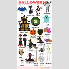Halloween Vocabulary In English  English  English Vocabulary, Halloween Vocabulary, English