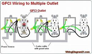 Multiple Gfci Outlet Wiring Diagram  Avec Images