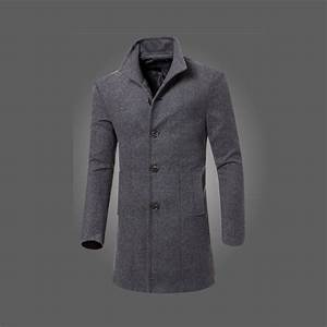 Winter Jacket Mens Slim Fit Blazer Coat Overcoat Tops ...