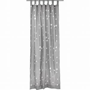 Gardinen Grau Gemustert : vorhang sterne inkl b gelband grau wei 140 x 245 cm 2 st ck mytoys ~ Indierocktalk.com Haus und Dekorationen