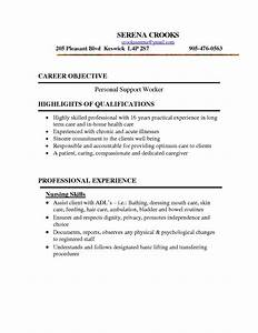 psw cover letter sample the best letter sample With sample resume for personal care worker