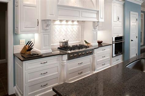 Brown Ceramic Floor Grey Countertops In White Elegant