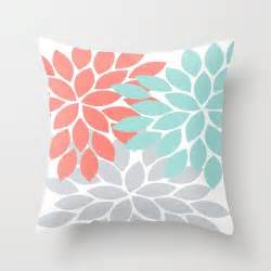 17 best ideas about coral throw pillows on pinterest
