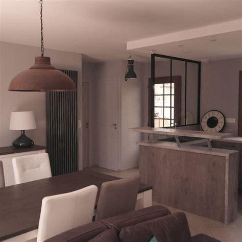 salon salle a manger cuisine 50m2 salon salle à manger cuisine style industriel