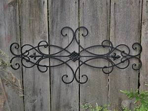 large tuscan wrought iron metal wall decor rustic antique With metal wall decor