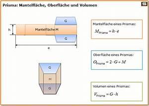 Trapez Berechnen Online : prisma formeln berechnen volumen oberfl che mantelfl che ~ Themetempest.com Abrechnung