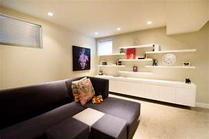 simple functional and space saving floating wall shelving With wall racks designs for living rooms