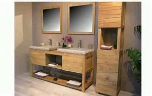 meuble salles de bain youtube With meuble salle de bain bois 2 vasques