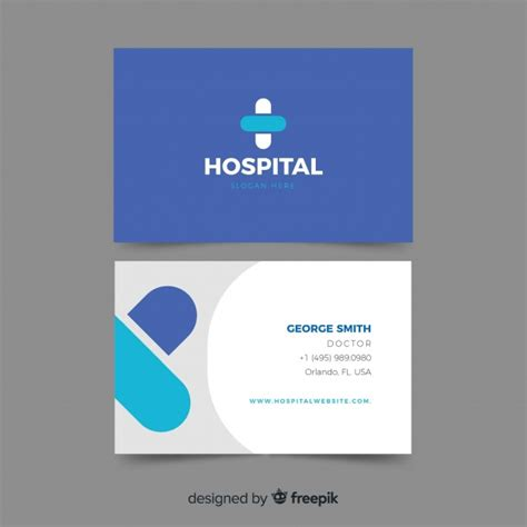 professional business card  hospital  doctor