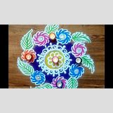 Rangoli Designs With Flowers And Colours | 1280 x 720 jpeg 177kB