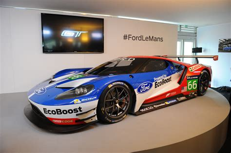 Racing Car by Four Blue Oval Bigwigs On The Ford Gt Race Car