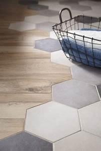 Carrelage Hexagonal Blanc : parquet et carrelage hexagonal tomette la tendance sol ~ Premium-room.com Idées de Décoration
