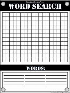 Create your own wordsearch for Create your own word search template