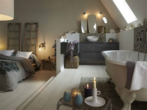 chambre ouverte sur salle de bain davaus idee salle de bain dans une chambre avec