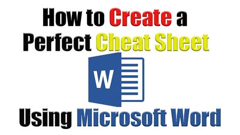 tutorial   create  perfect cheat sheet