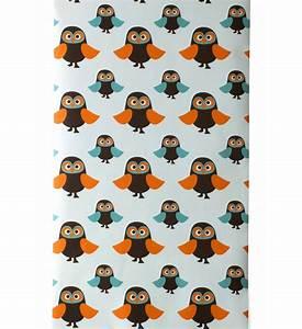 Longueur Rouleau Papier Peint : papier peint owls 1 rouleau larg 53 cm marron orange ~ Premium-room.com Idées de Décoration