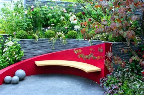 Blue Kitchen Ideas - wooden bench 48 creative ideas garden design stone and