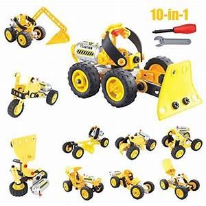 Spielzeug Jungen Ab 5 : milkee 10 in 1 auto montag spielzeug wagen 100 teilig konstruktions set 10 verschiedene ~ Watch28wear.com Haus und Dekorationen