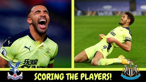 Scoring the players | Crystal Palace 0-2 Newcastle United ...