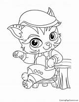 Coloring Pickles Haven Whisker Barnaby sketch template
