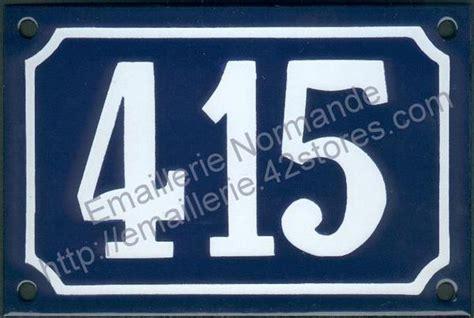 chambre bleu et blanc panneau de numéro de maison plaque émaillée numéro de