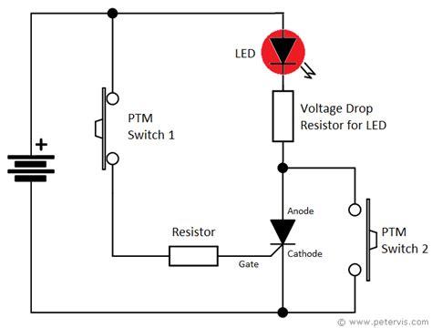 Thyristor Led Torch Light Circuit