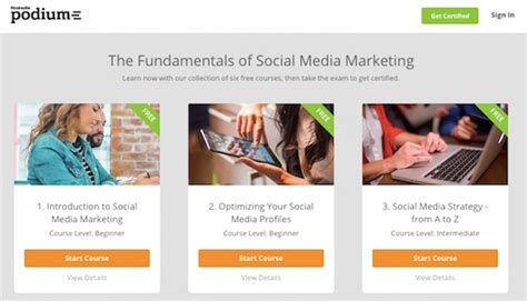 social media marketing classes free social media education courses best