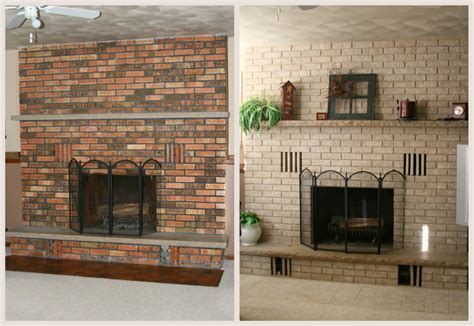 easy ideas  diy painting solutions  brick fireplace