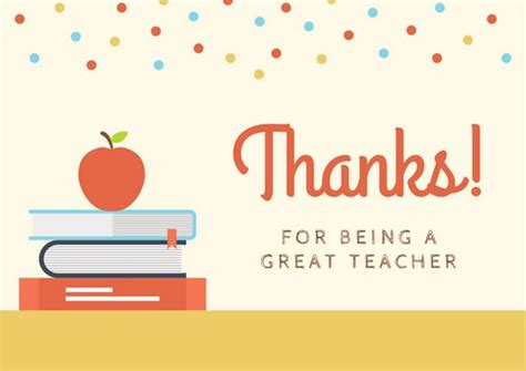 Customize 58+ Teacher Thank You Card Templates Online