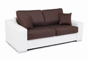 canape convertible couchage 140 cm onda wilma blanc With basika canape lit