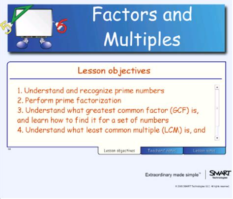 Smart Exchange  Usa  Factors And Multiples