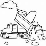 Coloring Truck Dump sketch template