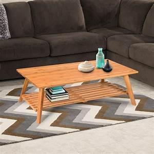 Barton, Premium, Folding, Bamboo, Wood, Coffee, Table, 2