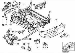 Original Parts For E39 M5 S62 Sedan    Seats   Bmw Sports Seat Frame Electrical