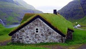 nature, Landscape, House, Green, Grass, Mountain, Water ...