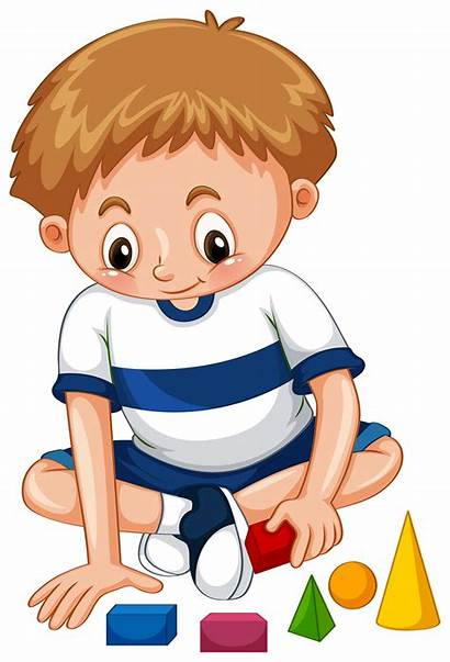 Playing Boy Shapes Vector Clipart Graphics Graphic