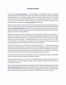 what is a cover letter in a manuscript covering letter With how to write cover letter for manuscript submission