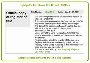 using the title register With documents required property registration