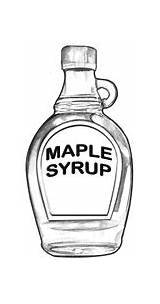 Maple Syrup Chopper Eats Sausage Breakfast sketch template
