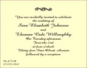 wedding invitation wording sles post wedding reception invitation wording badbrya