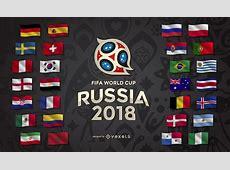 Design da Copa do Mundo da Rússia 2018 com o logotipo e