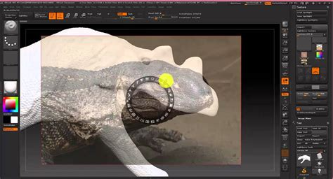 Coloring Zbrush by Zbrush Coloring A Model Using The Spotlight Tool