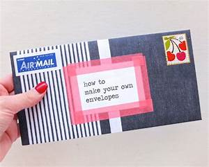 how to make your own envelopes my poppet makes With how to print your own envelopes