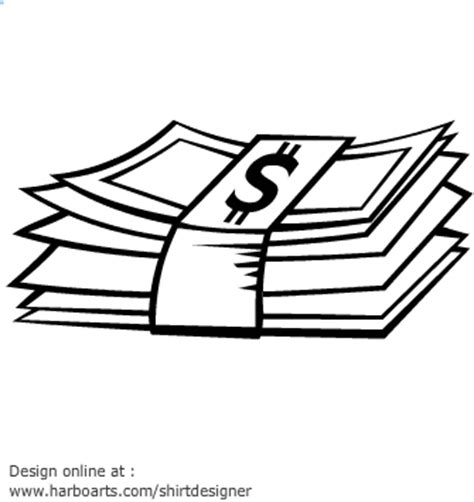 money clipart black and white pile of money image clipart best