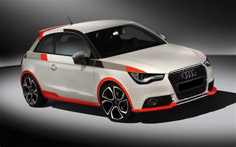 audi a1 sport white audi a1 sport with a black grey stripes and grey carbon on the outside mirrors