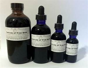 Pine Bark Tincture  Extract  Opc Supplement  Highest Quality  Multiple Sizes