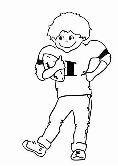 Coloring Football Player Pages Draw Nfl Cliparts