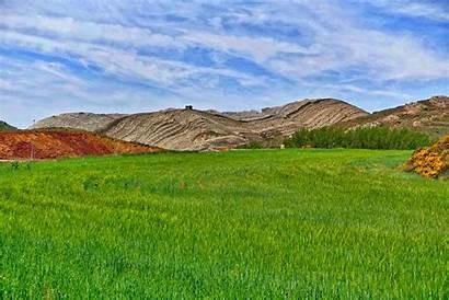 Gunung Pemandangan Gambar Pertanian Lapangan Vektor Batu
